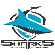 Cronulla Sharks Primary Logo - A blue and black shark swimming over a shield National Rugby League, Logo Psd, Shark Logo, Football Team Logos, Sports Logos, Eagle Art, Shark Swimming, School Logo, Logo Sticker