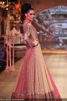 A beautiful outfit by designer Manish Malhotra,  Delhi Couture Week 2012.