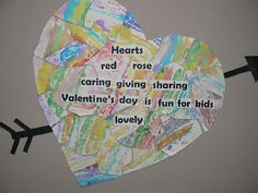 Mrs. T's First Grade Class:  Class Valentine's Day Poem- could do 100 words