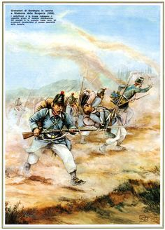 Line infantry from Sardinia (Piedmont) in the 1859 war