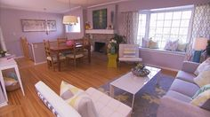 living room - The Property Brothers using some of Flüff Designs furniture in the latest episode of Buying And Selling