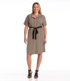e1cddd362ac Karen Kane Plus Size Fashion Printed Shirtdress with Belt