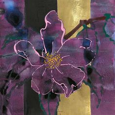 Love the aubergine and gold subtlety. Art Floral, Robert Kushner, Magnolia, Atelier D Art, Collage Art Mixed Media, Pattern And Decoration, Abstract Flowers, Silk Painting, Botanical Art