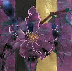 Love the aubergine and gold subtlety. Silk Painting, Artist Inspiration, Flower Art, Floral Art, Artist, Painting, Collage Art Mixed Media, Robert Kushner, Collage Art
