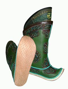 Handmade Mongolian boots - 189EUR. No nail is used. The sole is handsewn for durability. As time passes the thread on the sole tend to sit deeper into the sole leather, softer material, like nail.