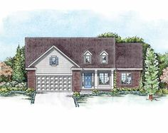 Eplans European House Plan - A Premium Design Presented by Home Planners - 1467 Square Feet and 3 Bedrooms(s) from Eplans - House Plan Code HWEPL75381