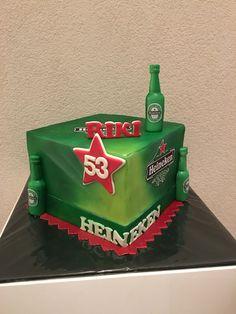 Cake Heineken birthday cake