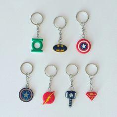 Captain America Shield Metal Keyring (bottom left) $3.35 Green Lantern, Superman, Captain America, Batman, Thor Hammer or Flash Symbol Keyring $3.25