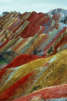 The Danxia Landform, Zhangye, China