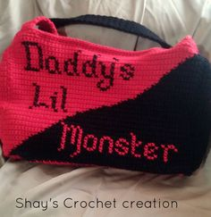 Daddy's Lil Monster Tote Bag