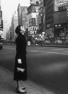 Audrey Hepburn in New York, early 1950s