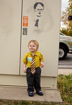 Jim Halpert as Dwight Schrute | 22 Amazing Kids' Halloween Costumes That They're Too Young To Understand