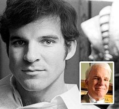 Look closely. There's a sweater there I swear. But mostly young and lovely Steve Martin Steve Martin, Silly Photos, Funny Baby Pictures, Celebrities Before And After, Celebrities Then And Now, Strong Jawline, Photo Star, Johnny Carson, Jim Carrey