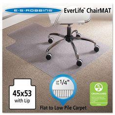 """ES Robbins Task Series AnchorBar Carpet Chair Mat - 45"""" x 53"""""""