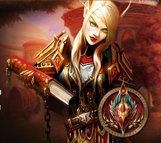 Blood Elf: Paladin... My fave character in World of Warcraft.♥