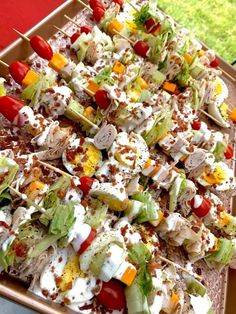 Pasta Salad, Cobb Salad, Mouth Watering Food, Kabobs, Salads, Ethnic Recipes, Party Time, Challenge, Crab Pasta Salad