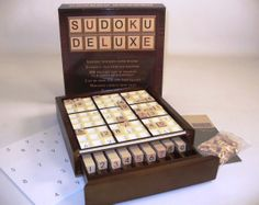 Deluxe Sudoku Board Game, wonderful family game, hard to keep in stock, order early for your holiday gifts! http://www.thegamesupply.com/sudoku #sudokuboardgames #familyboardgames
