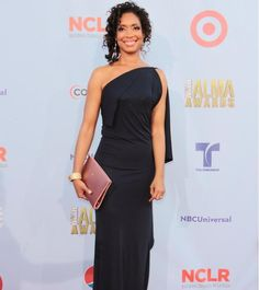 Gina Torres, who is also married to Laurence Fishburne, stars in 'Suits' as Jessica Pearson. She turns 46 in April. Jessica Pearson, Gina Torres, Celebrity Gowns, Celebs, Celebrities, Business Attire, Casual Chic, Work Wear, Sexy Women