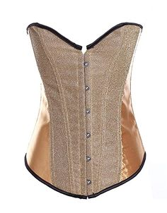 c840719cb2 WE LOVE CORSETS · Chicastic Shimmer  amp  Satin Bustier Bodyshaper Corset  With Strong Boning Gold Gold Corset