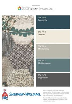 Ideas Bath Room Paint Colors Sherwin Williams Grey Bath Bedrooms For 2019 Paint Colors For Home, House Colors, Teal Paint Colors, Office Paint Colors, Paint Colors For Living Room, Grey Kitchens, Colour Schemes, Paint Schemes, Color Schemes For Office