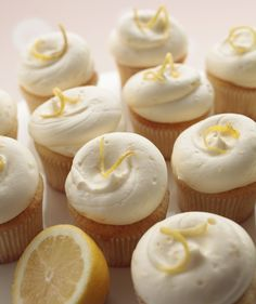 Cupcakes- the lemon kind Dc Cupcakes Recipes, Gourmet Cupcakes, Baking Cupcakes, Cupcake Cakes, Dessert Recipes, Cupcake Flavors, Cupcake Ideas, Cup Cakes, Easter Cupcakes