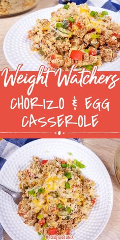 Healthy Chorizo and Eggs Casserole is a popular Mexican breakfast recipe. Make breakfast tacos, or breakfast burritos from this turkey chorizo recipe! Breakfast Nachos, Healthy Egg Breakfast, Mexican Breakfast Recipes, How To Make Breakfast, Breakfast Burritos, Healthy Beef Recipes, Chorizo Recipes, Cooking Recipes, Ww Recipes
