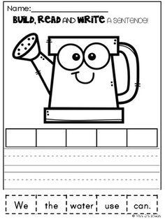 Homeschool Worksheets, 1st Grade Worksheets, Homeschool Kindergarten, Kindergarten Writing, Teaching Reading, Homeschooling, Literacy, Learning, Life Skills Lessons