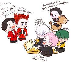 Chibi Eyes, Chibi Cat, Anime Chibi, Bts Chibi, Chanyeol, Kyungsoo, Exo Cartoon, Exo Stickers, Chibi Body