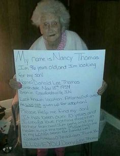 Please share this and help her unite with her son! ♥