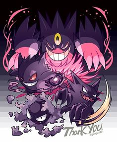 Gengar (mega and pre-evolutions)