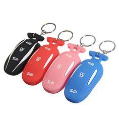 3 Botón Silicona Smart Control remoto Funda de tecla Fob Caso Titular de llave con cadena de llave Se adapta a Tesla Modelo X