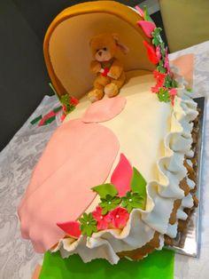 Amazing Baby Girl Shower Cake #baby shower #cake #baby #pregnancy