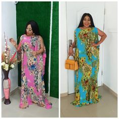 KELEKELE &KOSI DRESS Hot from the factory, this is special for the classic ladies, if you no sabi do yanga or shakers Biko don't buy ooo,… African Maxi Dresses, Maxi Gowns, African Attire, African Wear, African Women, Caftan Dress, Chiffon Maxi Dress, Plus Size Womens Clothing, African Fabric