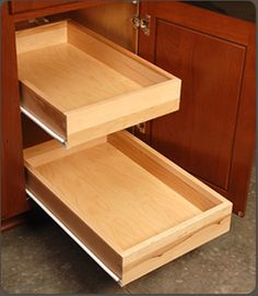Custom Solid Wood Dovetailed Drawer Boxes in any wood specie and size. Drawer Slides also available.