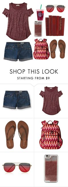 """""""5/23/17"""" by a-hidden-secret ❤ liked on Polyvore featuring Aéropostale, Hollister Co., Vera Bradley, Quay and LMNT"""