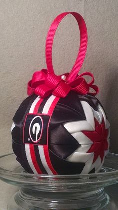 University of Georgia Bulldogs Christmas ornament by OrnamentBallGirl on Etsy