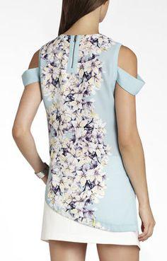 Alecia Sleeveless Asymmetrical-Hem Top | BCBG