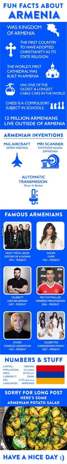 Fun Facts about Armenia - 9GAG