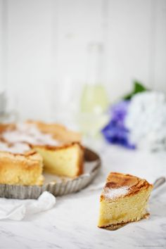Limoncello Olive Oil Cake with Sugar Crust