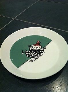 Vintage Retro Rare Original Moomin Pottery Quality Plate Arabia Finland Kitchenware, Tableware, Moomin, Finland, Retro Vintage, Pottery, Plates, The Originals, Ceramica