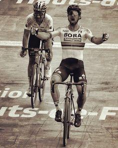 Entering The Legend.. Peter Sagan wins Paris Roubaix 2018 @peloton_perspective