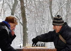 When you play chess, your mind comes in from the cold.