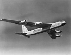 YB-52. The Boeing YB-52 bomber, test prototype of the B-52 Stratofortress. The YB-52 was the second plane in the series to be built but first to fly. The flight lasted just under three hours and was, at the time, the longest and most successful first flight in Boeing history. U.S. Air Force photo