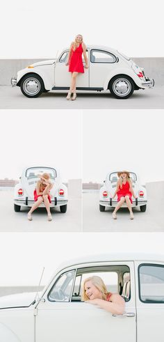 Fun vintage VW bug senior pictures by Lux Senior Photography  http://www.luxseniorphotography.com/blog/dayton-senior-photography-aubrey-ohs-class-of-2016