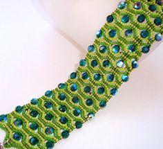 Snake's Eyes Beadwoven Cuff Bracelet