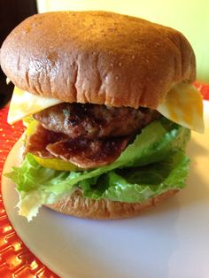 Turkey bacon turkey burger