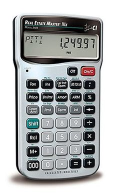 Calculated Industries 3405 Real Estate Master Iiix Real Estate Finance Calculator, 2015 Amazon Top Rated Math Materials #HomeImprovement