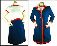Super MOD Lilli Ann dress in perfect vintage condition. Navy dress (red-blue-white). Unique and exclusive dress difficult to find. The dress have