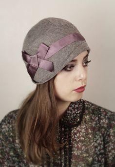 Tweed Herringbone cloche hat by Anna Chocola Brighton Milliner