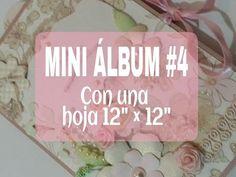 """MINI ALBUM # 3 CON UNA HOJA de 12""""x12"""" - YouTube"""